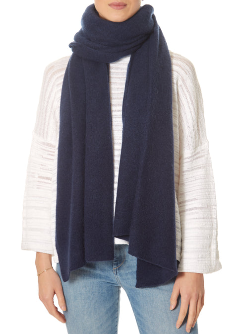 Dark Navy Scarf and Wrap