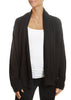 'Phoebe' Black Cashmere Cardigan with Pockets | Jessimara London