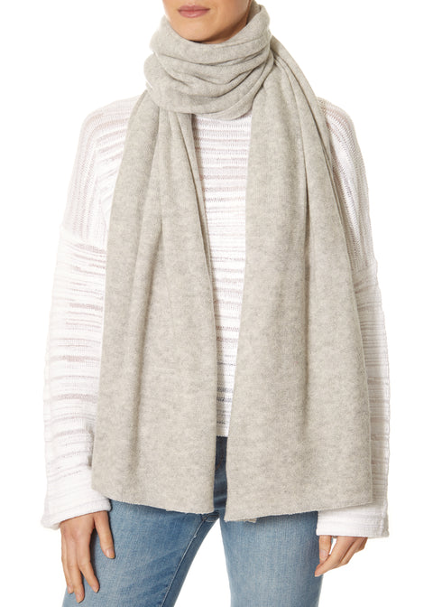 Silver Marl Grey Scarf and Wrap