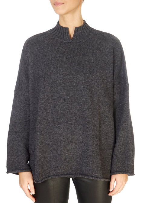 'Stella' Graphite Grey Cashmere Sweater | Jessimara London
