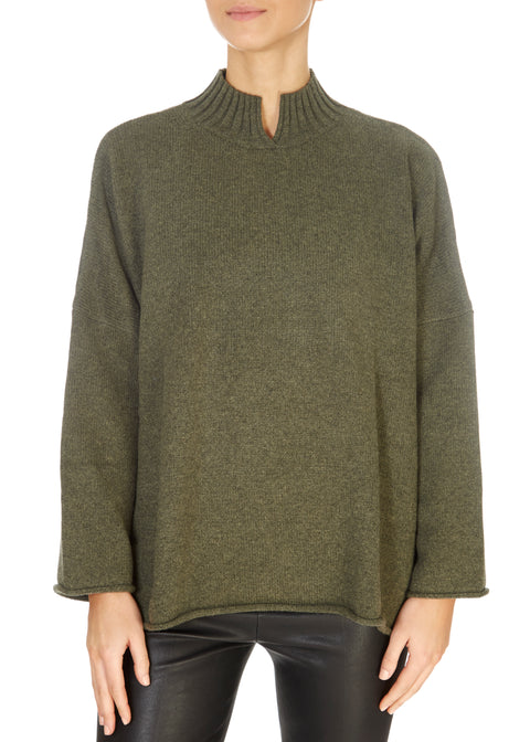 'Stella' Forest Green Cashmere Sweater | Jessimara London