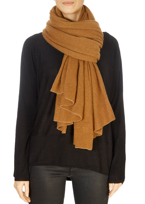 Chestnut Cashmere Scarf and Wrap | Jessimara London