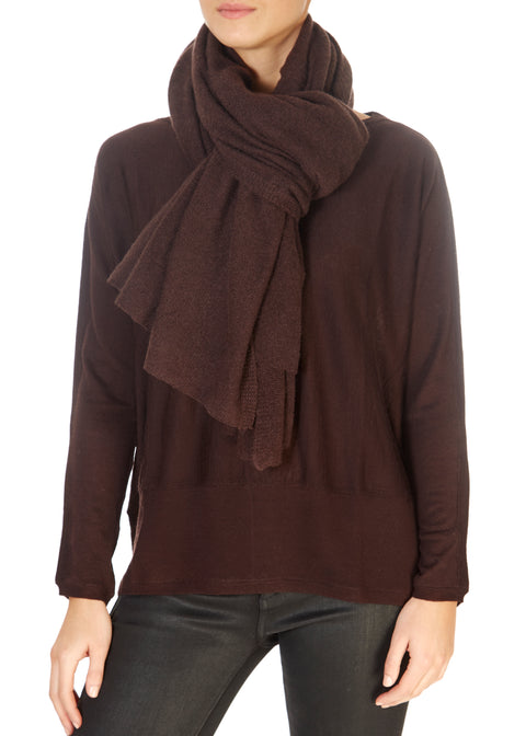 'Damson' Brown Cashmere Scarf and Wrap | Jessimara London