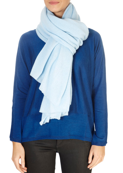 Pearl Blue Cashmere Scarf and Wrap | Jessimara London