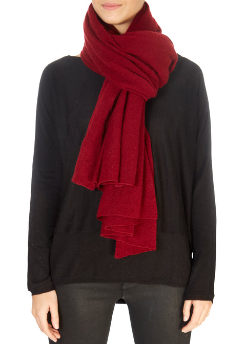 Ruby Red Cashmere Scarf and Wrap | Jessimara London