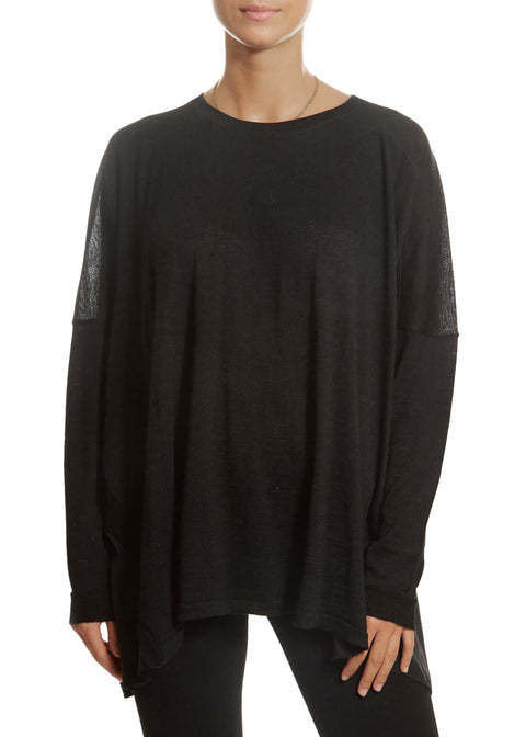 'Jolanda' Loose Fit Black Sweater | Jessimara London
