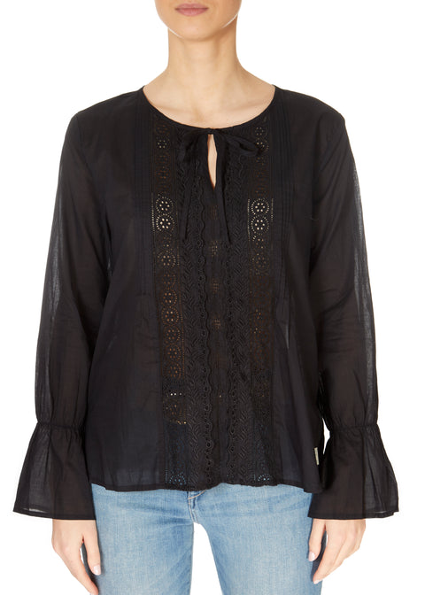 'So Neat' Black Boho Blouse | Jessimara London