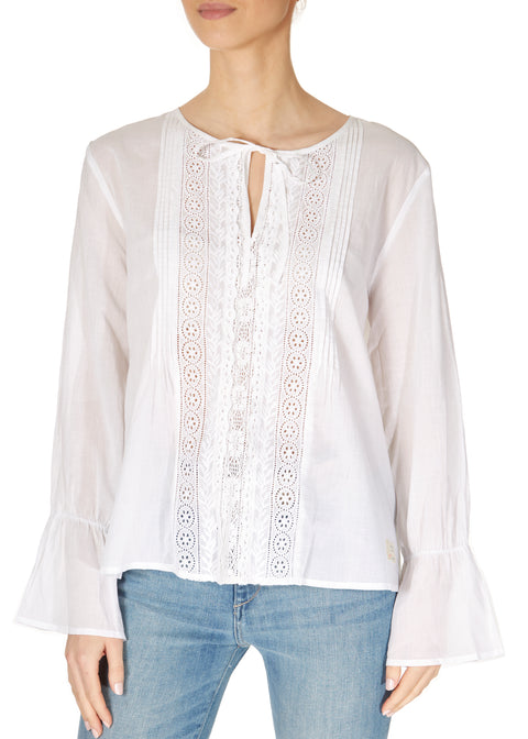 'So Neat' White Boho Blouse | Jessimara London