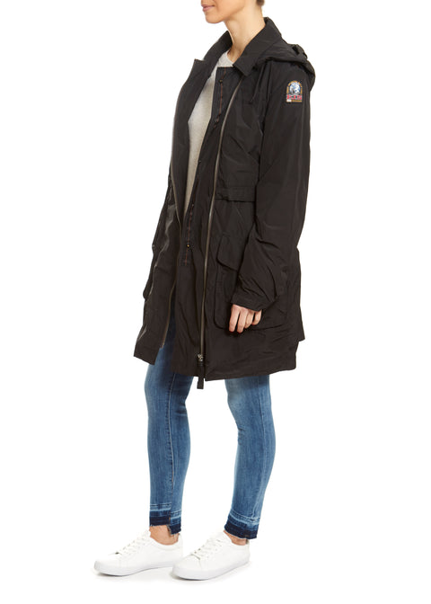 Black Delong Rain Jacket | Jessimara London