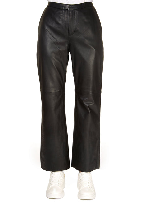 'Marvella' Real Leather Trousers | Jessimara London