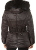 Short Black Down Belted Puffer Coat | Jessimara London