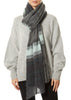 Aqua Grey Scarf Wrap | Jessimara London
