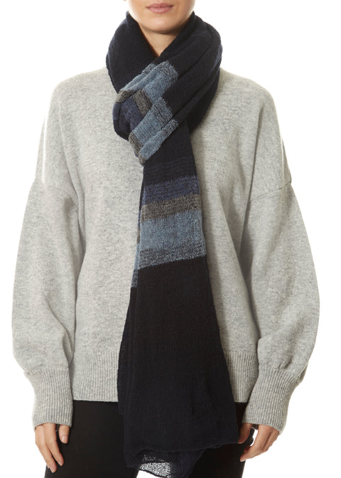Navy Black Scarf Wrap