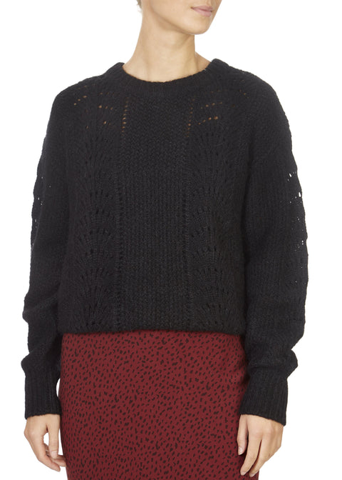 'Mara' Knitted Black Jumper | Jessimara London