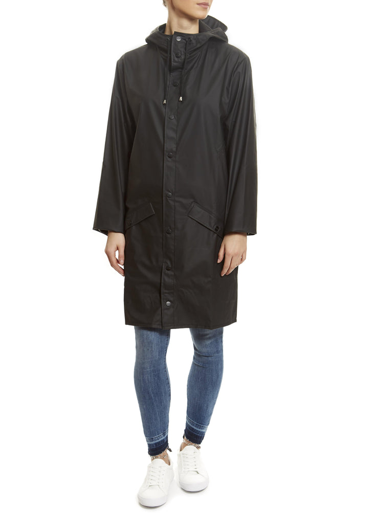 Black Long Rain Jacket | Jessimara London