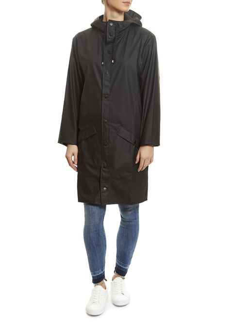 Black Long Rain Jacket Rains - Jessimara
