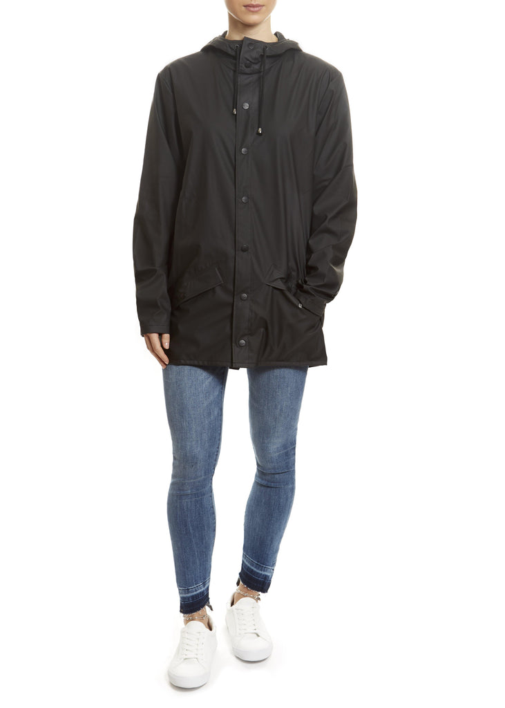 Black Short Rain Jacket | Jessimara London