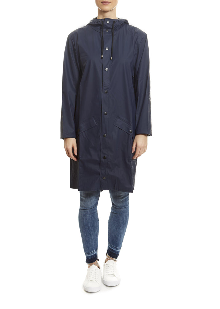 Blue Long Rain Jacket - Jessimara