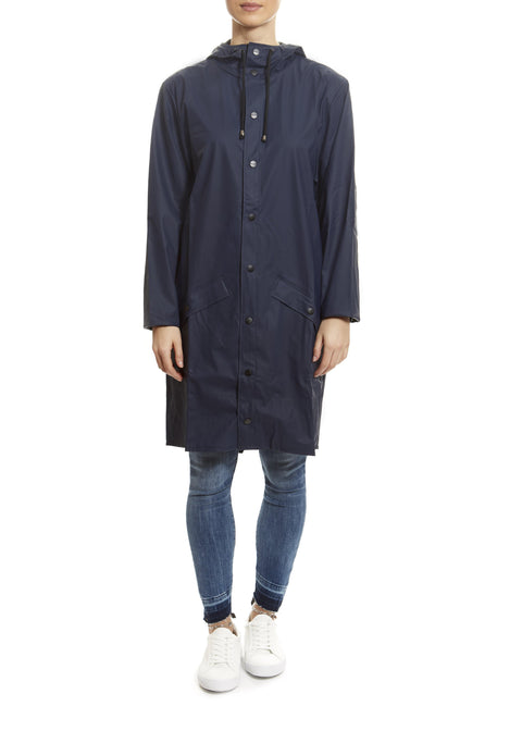 Blue Long Rain Jacket | Jessimara London