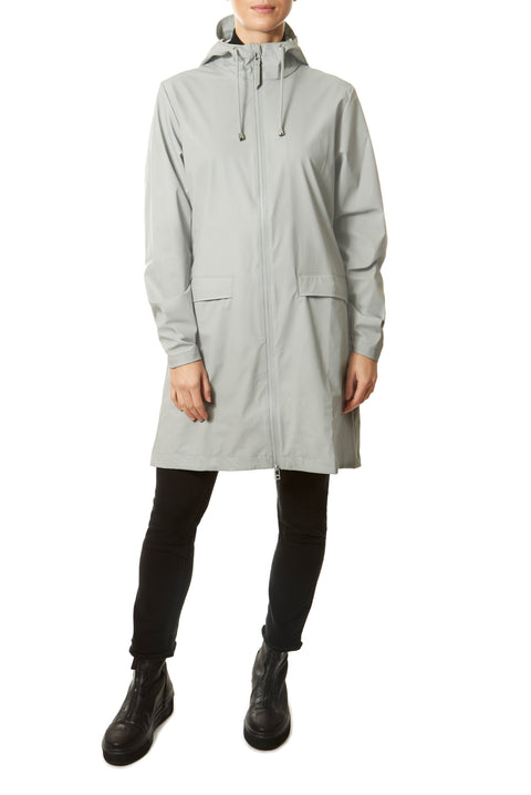 Stone 'W' Grey Raincoat