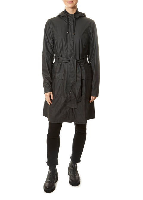 Black Curve Raincoat