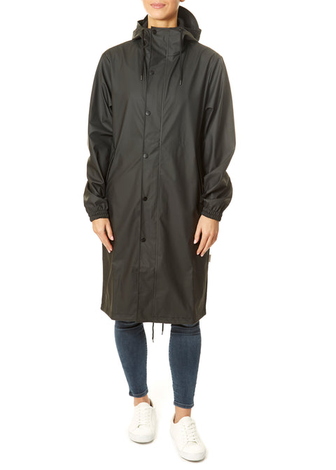 Black Fishtail Parka Rain Jacket