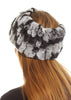 Black Snowtop Real Rex Rabbit Fur Snood and Fingerless Gloves