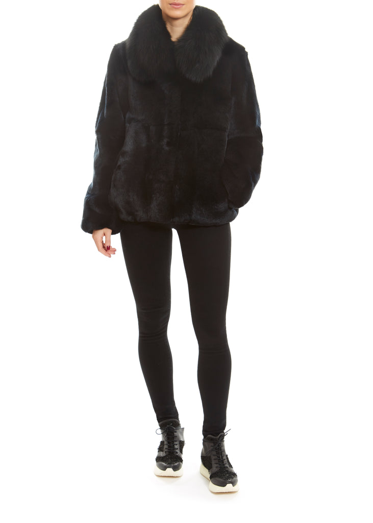 Real Rex Rabbit Fur Bomber Jacket | Jessimara London