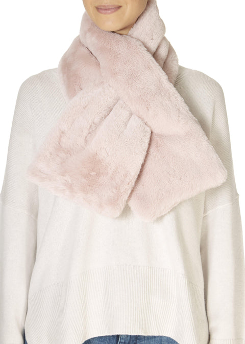 Hushed Pink Faux Fur Loop Scarf