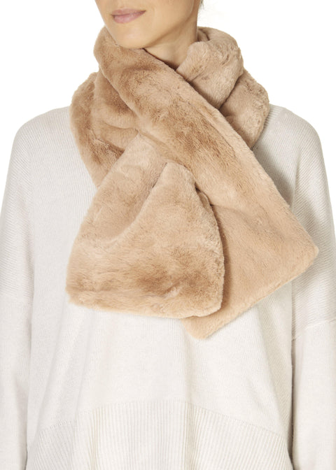 Woodsmoke Faux Fur Loop Scarf