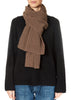 Mocha Wool and Cashmere  Ribbed Scarf
