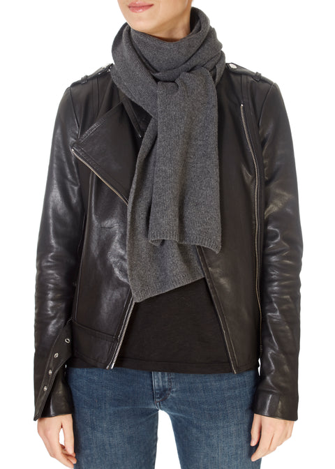 Dark Grey Open Scarf | Jessimara London