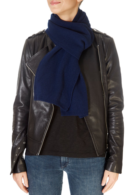 Navy Open Scarf | Jessimara London