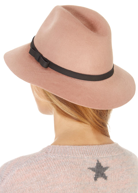 Rose Pink Trilby Hat