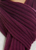 Burgundy Lined Ribbed Scarf - Jessimara