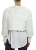 Cropped Knitted Rabbit 'White' Jacket