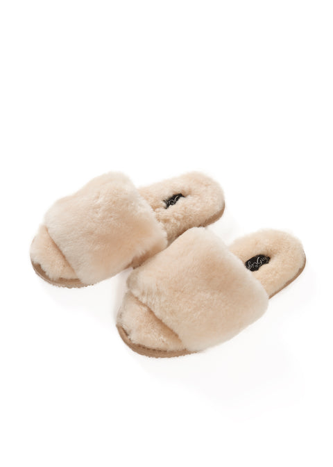 Cream Deep Sheepskin Sliders