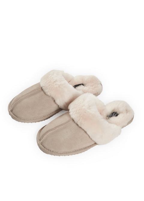 'Classic' Beige Luxury Sheepskin Slipper