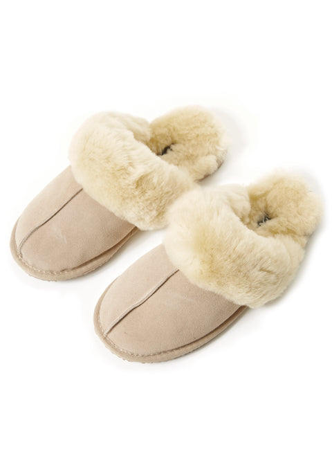 Classic Cream Luxury Sheepskin Slippers | Jessimara London