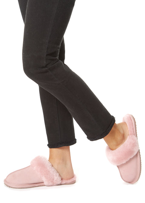Classic Pink Luxury Sheepskin Slippers