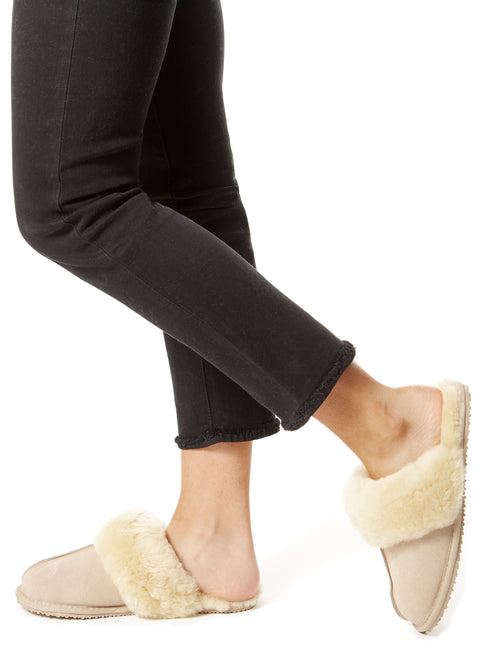 Classic Cream Luxury Sheepskin Slippers