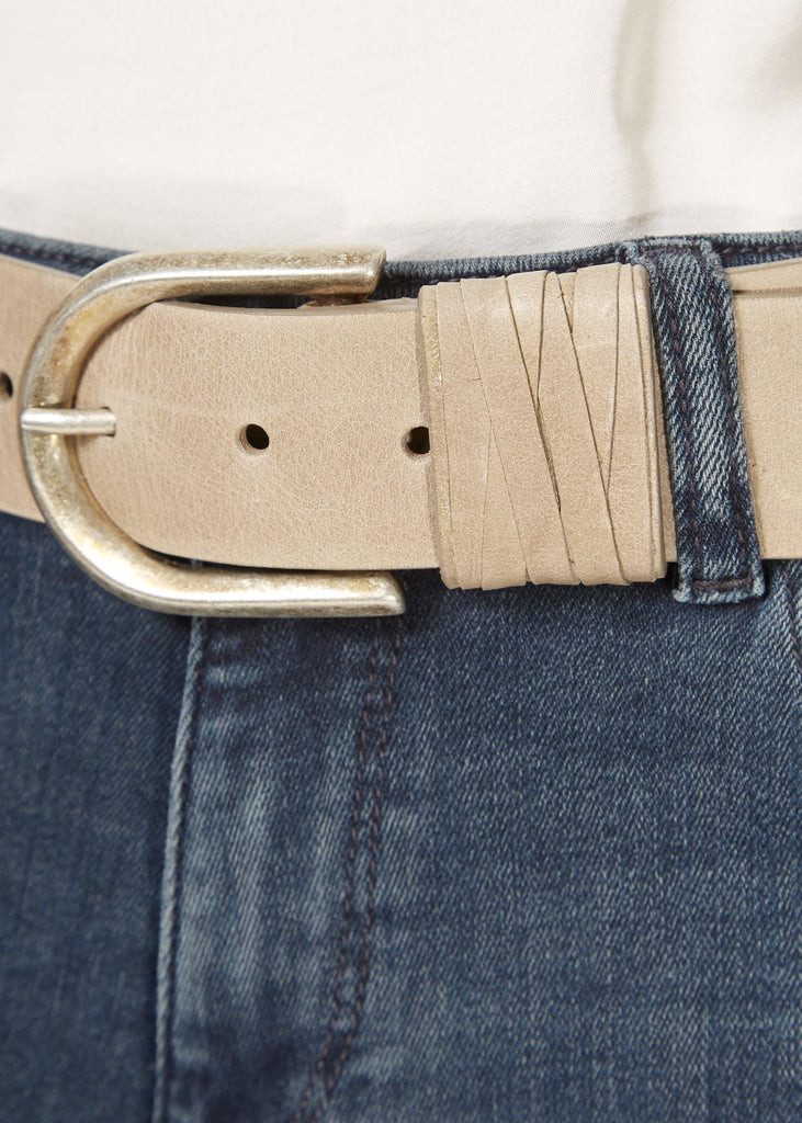 'Olivia' Taupe Belt With Silver Buckle | Jessimara London