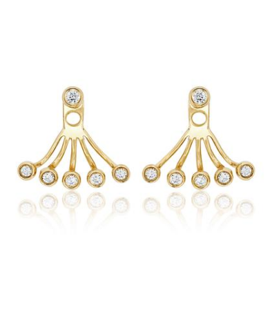 Ef Collection Multi Bezel Yellow Gold Diamond Ear Jacket