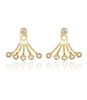Ef Collection Multi Bezel Yellow Gold Diamond Ear Jacket Ef Collection - Jessimara
