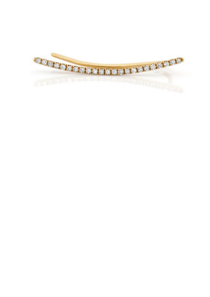 Ef Collection Diamond Curved Bar Yellow Gold Ear Cuff - Jessimara