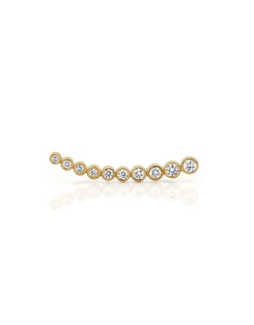 Ef Collection Diamond Bezel Yellow Gold Ear Cuff (Left) - Jessimara