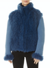 Blue Mongolian Lamb/Cashmere Jacket | Jessimara London