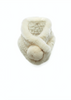 Cream Bobble Knitted Rabbit Luxury Fur Scarf | Jessimara London