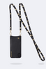 'Sarah' Black/Gold Pebble Leather Crossbody Bandolier | Jessimara London