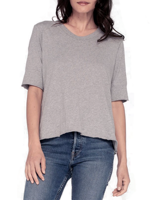 Grey Round Neck T Shirt | Jessimara London